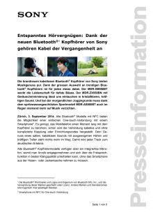 Medienmitteilung_MDR Bluetooth_D-CH_140903
