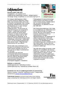 FOLKHEMSFORM pressmeddelande