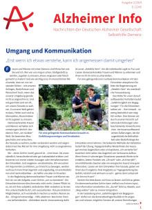 Umgang und Kommunikation - Schwerpunktthema im Alzheimer Info 2/2019