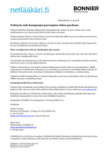 Nokturia.info kampanjoi parempien öiden puolesta