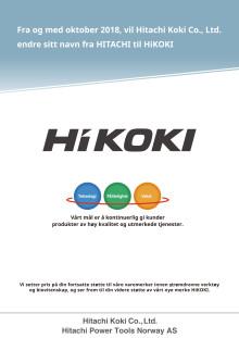 Hitachi endrer navn til HiKOKI oktober 2018_flyer