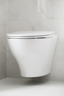 Suomessa valmistettu IDO Glow Rimfree -seinä-wc on helppo asentaa ja käyttää