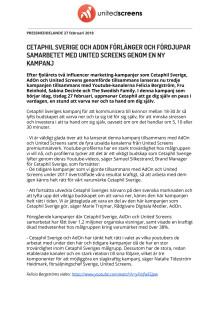 Cetaphil Sverige och AdOn förlänger och fördjupar samarbetet med United Screens genom en ny kampanj