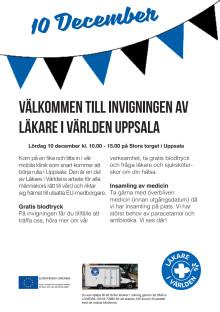 Inbjudan till invigning av Läkare i Världen Uppsala