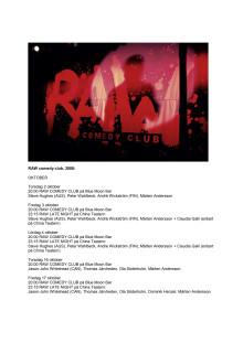 RAW comedy clubs höstsäsong 2008