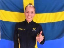 VM-GULD till Lina Sjöberg i dubbel mini-trampolin