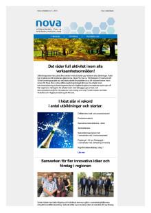 Nyhetsbrev Nova Utbildning FoU & Affärsutveckling oktober 2015