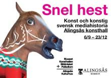 """Inbjudan: Pressvisning """"Snel Hest"""" Alingsås konsthall den 4 september kl.11.00"""