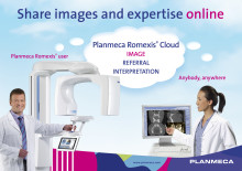 New Planmeca Romexis® Cloud service enables easy image transfer from professional to professional