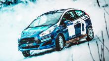 Andreas Bakkerud og Miriam Walfridsson tilbake i rallybilen i Numedalsrally.