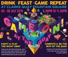 READY, GET SET, PLAY @ GAME ON! AT THE QUAY