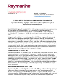 FLIR wprowadza na rynek radia nowej generacji VHF Raymarine