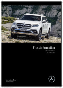 Presskit - Mercedes X-Klass i Sverige