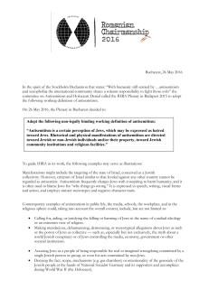 IHRA:S defintion av antisemitism