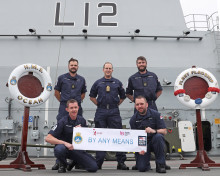 Navy Dad And Team Prepare Seven Day Trek Across The Country 'By Any Means'