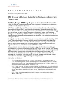 BTS förvärvar ett ledande Sydafrikansk företag inom Learning & Development