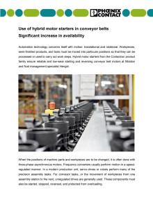 Use of hybrid motor starters in conveyor belts