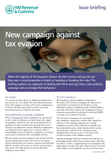 HMRC Briefing - New campaign against tax evasion