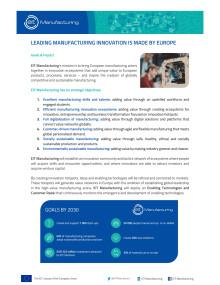 Faktablad om EIT Manufacturing