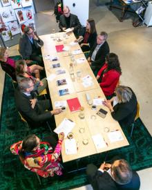 Positivt när Thomas Persson, generaldirektör för Myndigheten för yrkeshögskolan besöker Borås