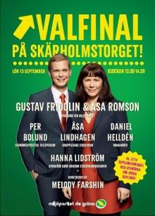 MP bjuder in till Valfinal på Skärholmstorget