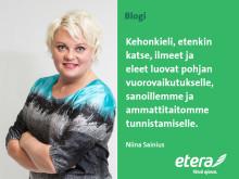 Niina Sainius: Sanaton vaikuttaminen on osa ammattitaitoa