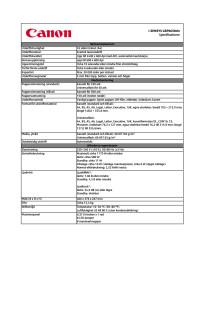 Teknisk specifikation i-SENSYS LBP 6650dn