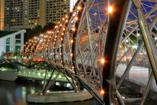 The Helix Bridge - An architectural marvel