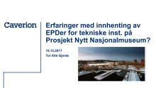 Presentasjon fra Tor Atle Gjerde, Caverion