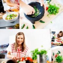 Smaka på världen – Mitt Liv deltagare lagar mat tillsammans med Santa Maria