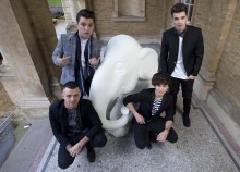 Union J paint brighter future to save the elephant