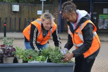 New floral displays brighten up Luton Airport Parkway station