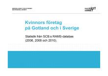 Antal företag som drivs av kvinnor resp män 2006-2010 Gotland
