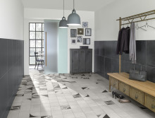 Villeroy & Boch Tiles new products 2016 - CENTURY UNLIMITED: stylish designs in black and different shades of grey