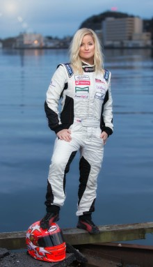 ​Powerboat driver Marit Strømøy is ambassador for Glamox at Nor-Shipping
