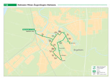 Stadsbuss linje 3 i Ängelholm, karta och tidtabelle, gäller från 13 augusti 2017