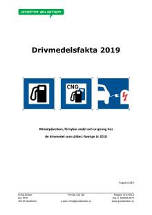 Gröna Bilisters nya rapport Drivmedelsfakta 2019