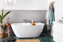 Elisse – generöst badkar i sanitetsakryl  från Alterna Badrum