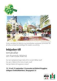 Inbjudan till temakvällar om framtida Malmö