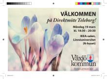 Inbjudan till direktmöte på Teleborg