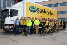 Team Rynkeby Sønderjylland på god Tour med Scania Rental