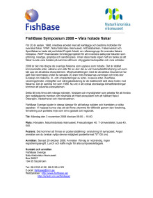 Program Fishbase symposium 2008