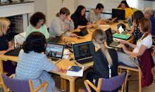 Wikipedialäger på folkhögskolan i Molkom för fler kvinnor i världens största uppslagsverk