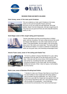 Karpaz Gate Marina Testimonials