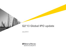 Global IPO-Barometer Q2 2013