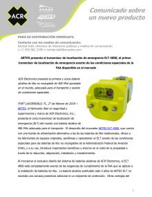 ARTEX presenta el transmisor de localización de emergencia ELT 4000