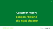 London Midland Customer Report 2016