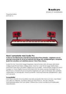 Nord i samarbete med Audio Pro