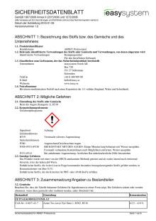 Säkerthetsdatablad | ABNET Professional | tyska