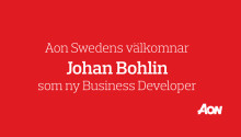 Aon Sweden välkomnar Johan Bohlin till rollen som ny Business Developer